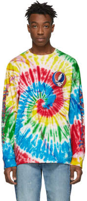 c8c8b268f83 R 13 Multicolor Tie-Dye Grateful Dead Long Sleeve T-Shirt