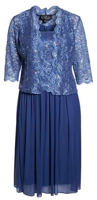 Alex Evenings Lace Bodice Dress with Jacket