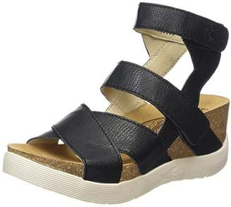 Fly London Wege, Women's Sandals, Black, (39 EU)