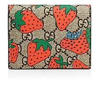Gucci Women's GG Card Case with Strawberry Print