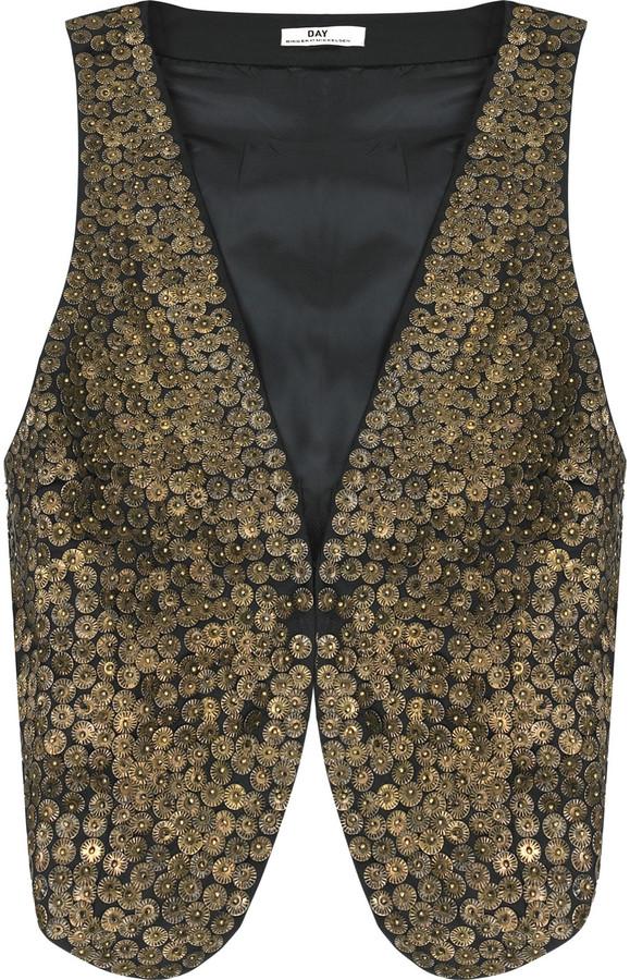 DAY Birger et Mikkelsen Patti sequined cotton vest