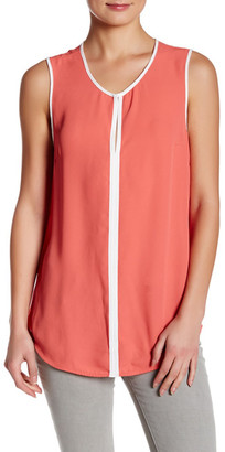 SUSINA Sleeveless Contrast Trim Blouse $21.97 thestylecure.com