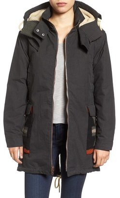 Women's Woolrich Wool Trim Parka With Detachable Liner $550 thestylecure.com
