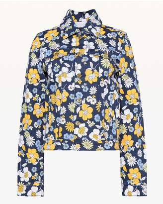 Juicy Couture Garden Floral Denim Jacket