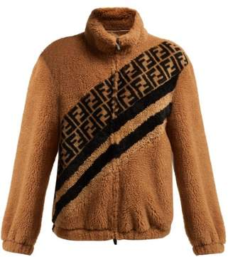 Fendi Ff Faux Shearling Jacket - Womens - Cream Multi
