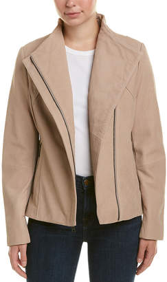 Tahari T Kelly Leather Jacket