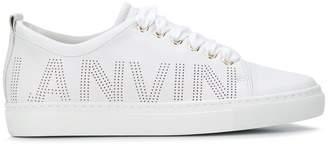 Lanvin logo embossed sneakers