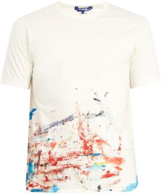 Junya Watanabe X Comme des Garçons paint-splashed cotton T-shirt