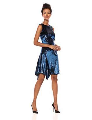 Elie Tahari Women's Tinsel Velvet Serenity Dress