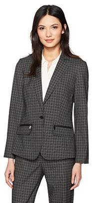 Jones New York Women's Small Grid Check Jacket