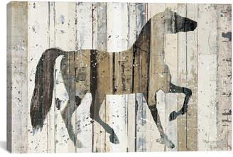iCanvas Icanvasart Dark Horse Canvas Wall Art