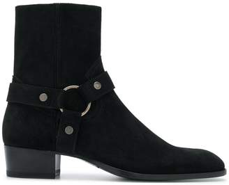 Saint Laurent Wyatt harness ankle boots