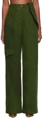 Jacquemus Green Le Jean De Nimes Jeans