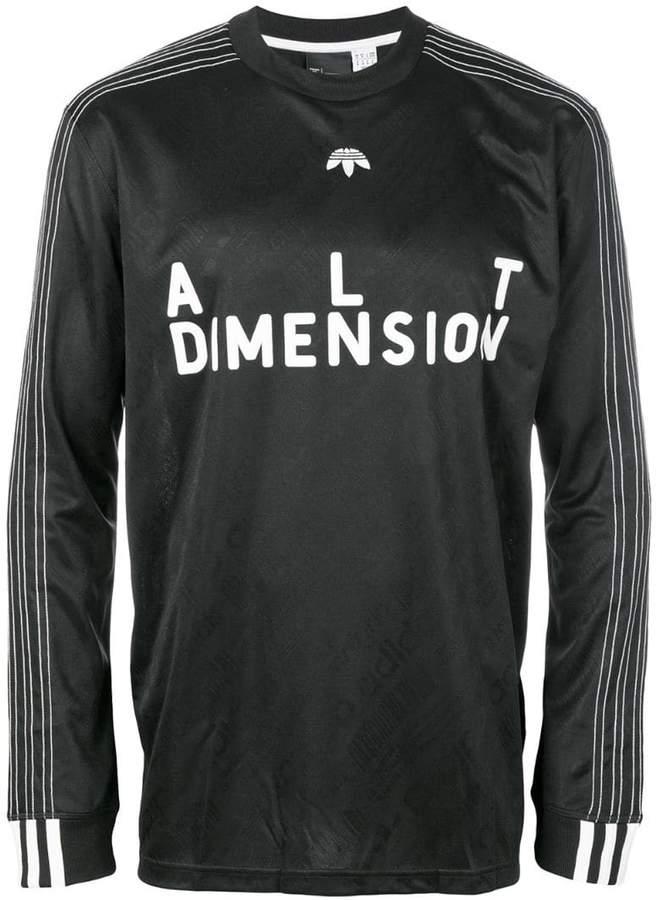Adidas Originals By Alexander Wang Long-sleeved soccer T-shirt