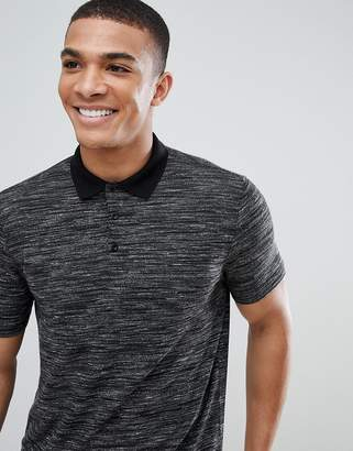 Asos Design DESIGN polo shirt with inject fabric in gray