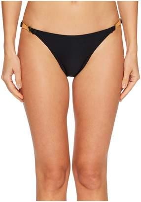Kate Spade Crescent Bay #74 Shirred Bikini Bottom w/ Bow Hardware Women's Swimwear