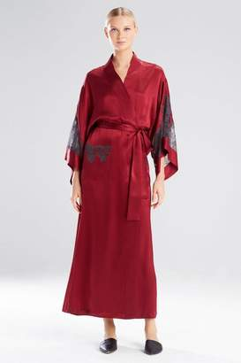 Josie Natori Lolita Long Robe With Lace