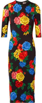 Alice + Olivia (アリス オリビア) - Alice + Olivia - Delora Floral-print Stretch-jersey Midi Dress - Black