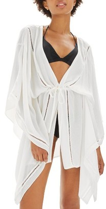 Women's Topshop Ladder Stitch Cover-Up Caftan $68 thestylecure.com