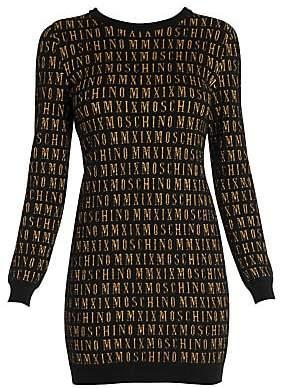 Moschino Women's Intarsia Logo Sweater Dress
