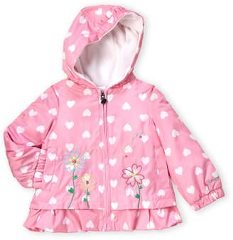080f095a5 London Fog Infant Girls) Heart Print Hooded Jacket
