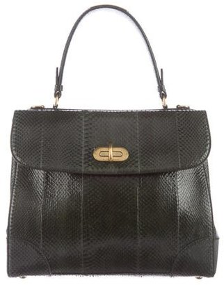 Ralph Lauren Python Medium Tiffin Bag $1,095 thestylecure.com
