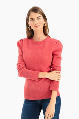 White + Warren Puff Shoulder Cashmere Crewneck Sweater