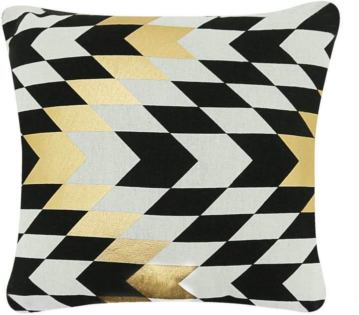 Quadratisches Kissen - dreifarbig