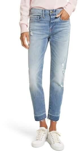 Le Boy Ripped High Waist Jeans