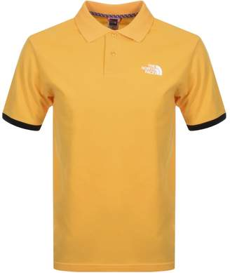 The North Face Logo Polo T Shirt Yellow