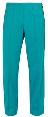 Maison Margiela Pleated Technical Jersey Track Pants - Mens - Blue