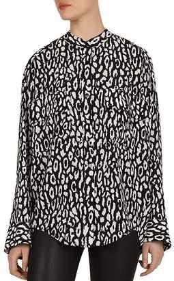 The Kooples Leopard Button-Down Shirt