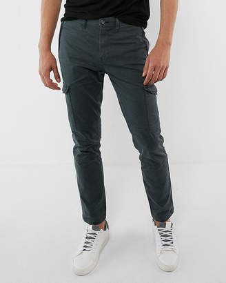 Express Skinny Stretch Garment Dyed Cargo Pant