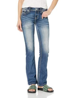 Miss Me Women's Mid Rise Chloe Boot Cut Jeans