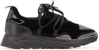 Blumarine crystal embellished sneakers