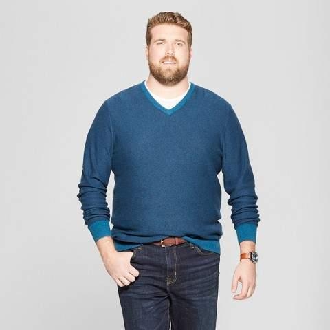 Goodfellow & Co Men's Big & Tall Crew Neck Sweater - Goodfellow & Co Blue