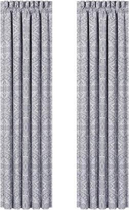 """J Queen New York Colette Silver 100"""" x 84"""" Window Drapery"""