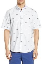 Rag & Bone Smith Logo Pattern Slim Fit Woven Shirt