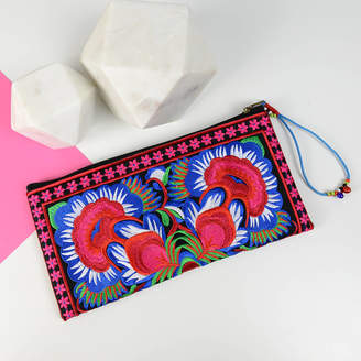 Home & Glory Embroidered Clutch