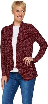 Joan Rivers Classics Collection Joan Rivers Textured Wave Knit Waterfall Cardigan
