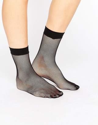 Asos DESIGN Micronet Fishnet Ankle Socks