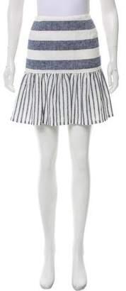 Skin Striped Mini Skirt