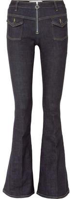 Victoria Beckham Victoria, High-rise Flared Jeans - Dark denim