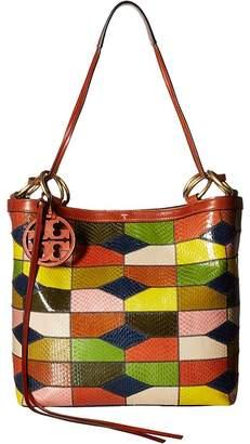 Tory Burch Farrah Snake Patchwork Tote Tote Handbags