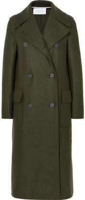 Harris Wharf London Double-breasted Wool-felt Coat - Green