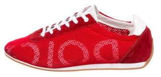 Dolce & Gabbana Mesh Low-Top Sneakers