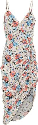 Veronica Beard Annabelle Silk Ruched Floral Dress