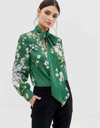 Ted Baker Johsie floral printed blouse