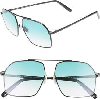 Morgenthal Frederics MONSE X Linda 57mm Aviator Sunglasses