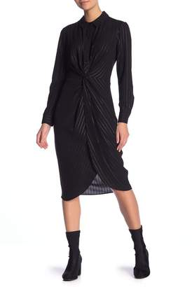BCBGeneration Twist Knot Stripe Shirt Dress